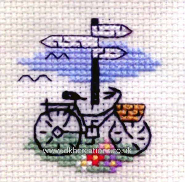 Bicycle And Signpost Cross Stitch Kit